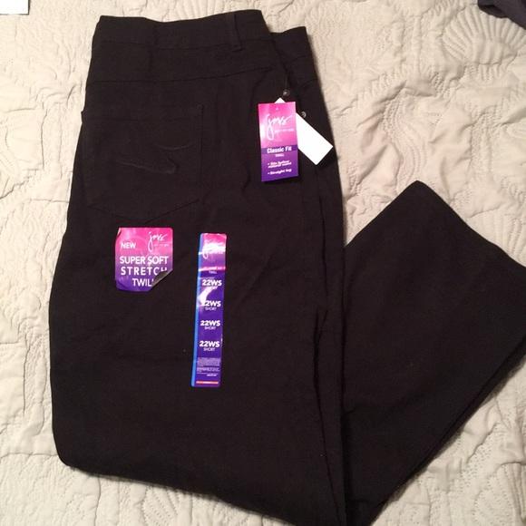 6b7b2d784ac30 Just My Size Denim - Just My Size classic fit twill black jeans 22WS